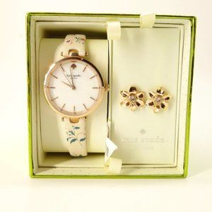 NWT Kate Spade Holland Floral Watch Earring Set